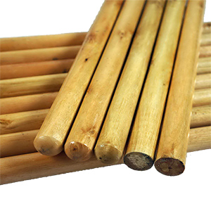 Varnished wooden mopsticks